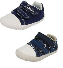 Clarks 'Little Chap' Boys Canvas Doodles F & G Width Fitting