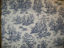 Upholstery Slipcover Drapery Fabric: Red Blue Toile