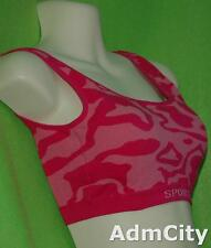 No Wire Padded Spandex Sports Bra with Removable Pads 32b 32c 34a 34b One Size