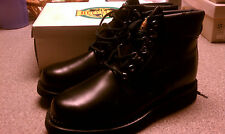 Mens leather boots Buffalino Black new in box