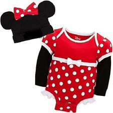 MiNNie MoUSe~CuDDlY~ReD~BODYSUIT+CAP~NWT~0-24M~2yrs~Costume~Disney Store~Junior