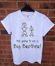 I'M GOING TO BE A BIG BROTHER GIFT BIRTHDAY PRESENT FUNNY T SHIRT MEN BOYS KIDS
