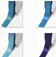 "100 Yards Double Faced Satin Ribbon 1/2"" /13mm./ Roll Lot Blue s #303 to #346"