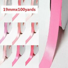 "Double Faced Satin Ribbon 3/4"" /19mm. Wholesale 100 Yards All Pink for Bow"