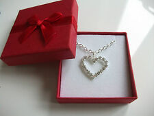 Beautiful Heart Necklace.Holy Communion,Confirmation,Bridesmaid Present/Gift Box