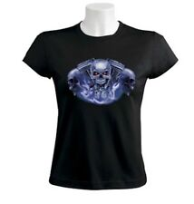 Skull And Engine Women T-Shirt motorcycle bike rider biker choppers