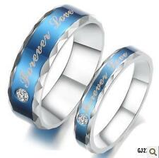 1pc Titanium Steel Blue of Love Couples Ring