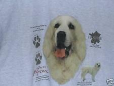 GREAT PYRENEES HISTORY Gray Tee Shirt SMALL To 4XL NWOTS