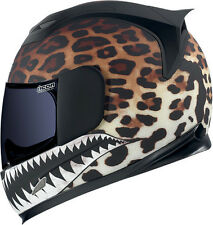 Icon Airframe Sauvetage Flying Leopard Motorcycle helmet with Dark Tint Shield