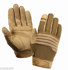 knuckle gloves padded tactical glove coyote brown rothco 4460