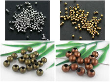 2.4mm,3.2mm,4mm,5mm,6mm,8mm,10mm 4Colors-1 Metal Ball Findings Diy Spacer Beads