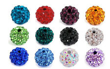 8mm 10mm 12mm Disco Ball Pave CZ Crystal Beads fFit For Shamballa Bracelet