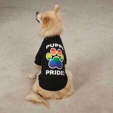 Dog Pride Rainbow Paw Colorful Puppy T shirt Tee Clothes Pet Apparel Terrier...