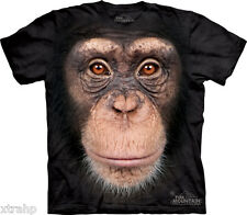 The Mountain Chimp Chimppanzee Monkey Face Adult T-Shirt PRINT IN USA MT22