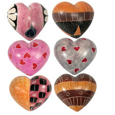 Hand Carved Soapstone Hearts Produced in Kenya | Fair Trade | Multiple Designs
