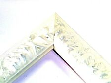 Small Off-White Victorian Wood Ornate Picture Frame-Custom Square Sizes