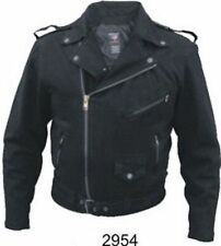 +A2954 Men's Basic Motorcycle Jackets 14 oz. Black Denim