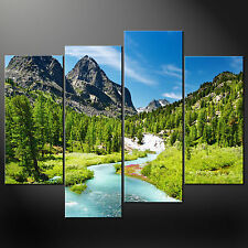 ROCKY MOUNTAINS CASCADE CANVAS PRINT MODERN DESIGN MANY SIZES FREE UK POSTAGE