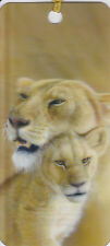 3D Bookmarks with Tassel - Lion with Cub