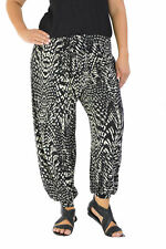 New Womens Animal Print Full Length Harem Ali Baba Leggings Nouvelle Plus Size