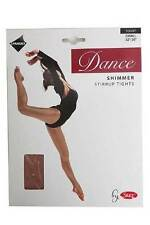 Silky Childrens Girls Stirrup Foot Shimmer Ballet Dance Tights Light Toast