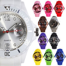 Women Light Reflecting Face 13 Colors Silicon Jelly Casual Quartz Wrist Watch