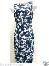 NWT Ann Taylor Fully Lined Floral Print Back Zip Cotton Machine Washable Dress