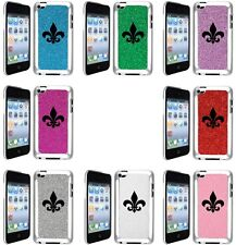 GLITTER Bling iPod Touch 4th Generation 4G Hard Case Fleur De Lis