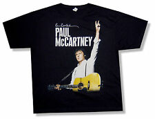 "PAUL MCCARTNEY ""NY EVENT 2011"" ON THE RUN TOUR BLK T-SHIRT BEATLES NEW OFFICIAL"