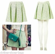 TOPSHOP FLURO BOUCLE PLEATED SKIRT £40 SIZE 6 12 NEW