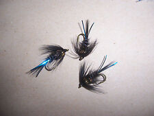 Golden Nugget Black Cruncher sizes 10 & 12 + attractor: Salmoflies Fishing Flies