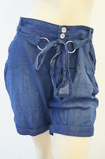 Denim Jeans Low Rise Belted Ladies NEW LOOK Shorts Size 8 10 12 14 16 18 FREE PP
