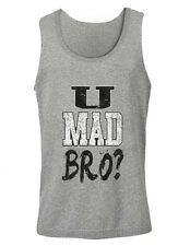 U MAD BRO? Singlet JERSEY SHORE Pauly D Vinnie Guido SWAG Meme Troll GYM Bacon