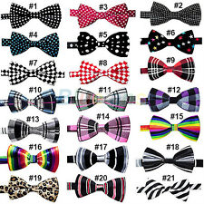 Mens Fashion Novelty Unique Tuxedo Bowtie Wedding Bow Tie Necktie 21 Colors Pick