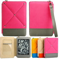 FASHIONABLE  COVER CASE for KINDLE PAPERWHITE PINK GREY AUTO SLEEP +SP
