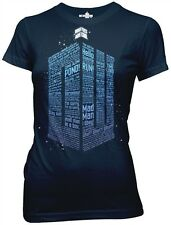 Doctor Who Logo of Words juniors t-shirt  Women's size
