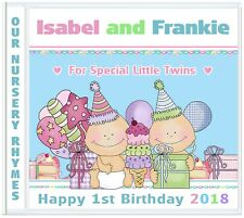 Birthday Gifts for Twins 1st Birthday - Personalised Gifts for Twin Boys/Girls