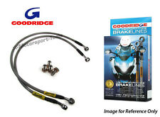 Goodridge For Kawasaki ZX10R 06 Front Braided Brake Lines Hoses Stainless Steel