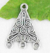 28/58Pcs Tibetan Silver 3-to-1 Connectors Findings 22x16mm