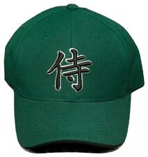 New! Hawaii Warriors Kanji Symbol Adjustable Velcro Back Embroidered Cap - Green