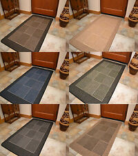 New Flat Weave Woven Rubber Backed Dining Room Kitchen Utility Floor Rugs Mats