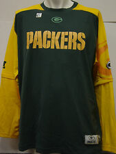 NEW Mens Green Bay PACKERS NFL Team Apparel Shirt w/ Removable Sleeves