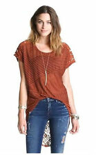 NWT Free People 'Day Dream' High/Low Lace back top