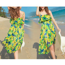 2014 New Yellow Cheap Low Back Summer  Beach Casual Holiday Dress 03832