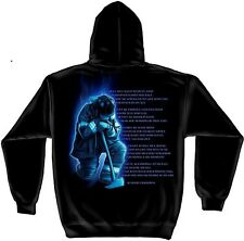 """Firefighter Hoodie """"FIREFIGHTER'S PRAYER"""", Black, HD Color Graphics - FF-2011SW"""