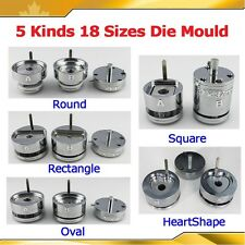 ASC365 Interchangeable Die Moulds for Pro Button Maker Badge Machine 18 Sizes