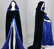 Hooded Velvet Cloak/Cape Halloween Wedding Pagan Witch Wicca In Various Colours