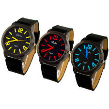 Young Boy Teenager Unique Clear Big Number Style Sports Wrist Watch Watches New