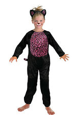 PINKY CAT SUIT FANCY DRESS CHILD HALLOWEEN COSTUME TWO SIZES