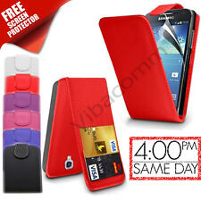 NEW FLIP TOP LEATHER CASE COVER FOR SAMSUNG GALAXY S4 MINI I9190 + SCREEN GUARD